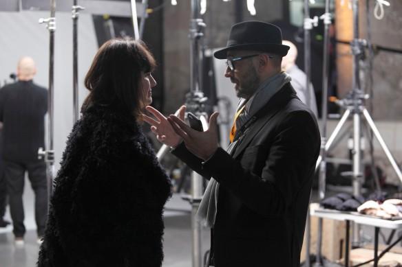 Natalia charlando con Carlos Puig Padilla